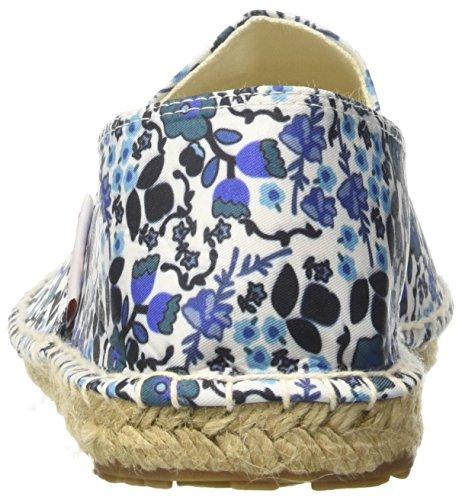 Blue Superga Mujer Fabricfanw C62 Alpargatas Multicolor Flowers 4524 para wrB0wF