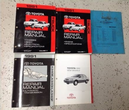 1991 TOYOTA TRUCK Service Repair Shop Manual Set OEM W Feat & Transmission Book