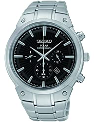 Seiko Mens SSC317 Analog Display Analog Quartz Silver Watch