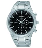 Seiko Men's SSC317 Analog Display Analog Quartz Silver Watch