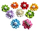 PET SHOW Flower Pet Dog French Barrette Hair Clips Cat Puppy Grooming Hair Accessories Assorted Color Pack of 20
