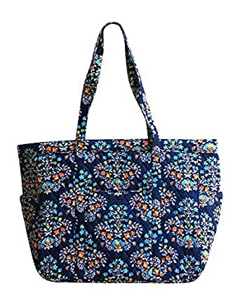 Vera Bradley Get Carried Away Tote with Updated Solid Interiors (Chandelier Floral)