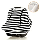Stretchy Baby Car Seat Cover, Infant Car Canopy, B&W Stripe Deal