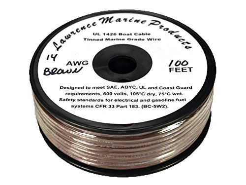 - 14 AWG Tinned Marine Primary Wire, Brown, 100 Feet