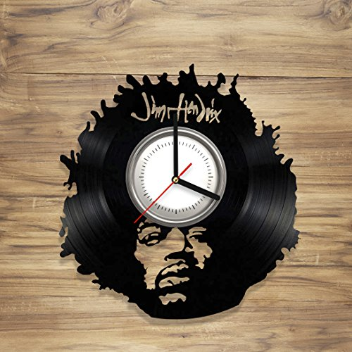 Jimi Hendrix Vinyl Wall Clock Legend Rock Music Jazz Guitar Singer Perfect Art Decorate Home Style UNIQUE GIFT idea for Him Her (12 - Rock Legend T-shirt
