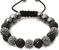 10mm Shamballa Crystal Womens, Men's Bracelet