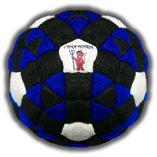 Pandemonium Footbag Kraken Footbag 152 Panels Great Hacky Sack Sand & Iron Weighted At 2.1 Ounces.
