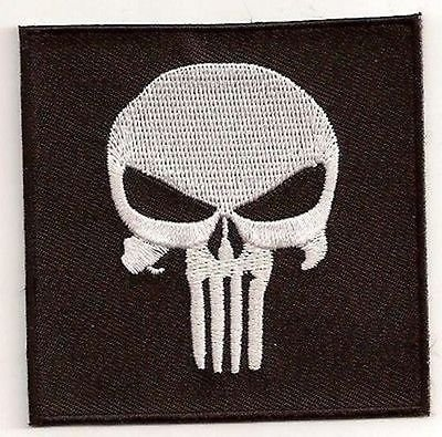 SKULL PUNISHER Embroidered Motorcycle MC Club Awesome Biker Vest Patch PAT-1651