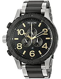 Nixon Men's '51-30 Chrono' Quartz Stainless Steel Automatic Watch, Color:Silver-Toned (Model: A0832194-00)