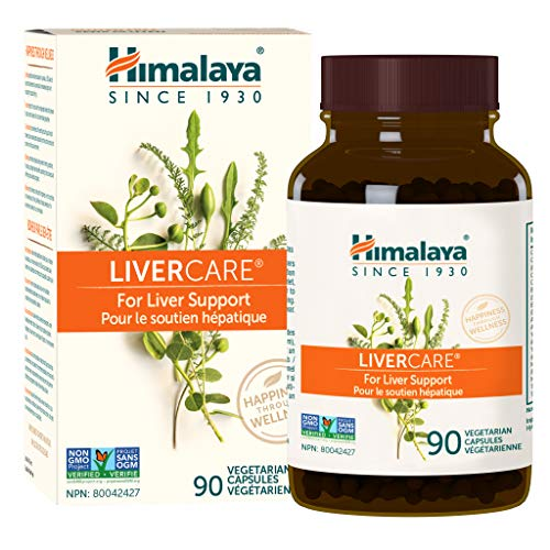Himalaya LiverCare/Liv 52 for Liver Cleanse and Liver Detox 375 mg 90 Capsules 45 Day Supply