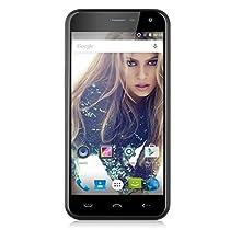 5.0'' HOMTOM HT3 IPS 3G Smartphone Android 5.1 Lollipop MT6580A Quad Core 1.3GHz Cellulare Dual SIM 1 GB RAM+ 8GB ROM Intelligente Sveglia GPS WIFI, Ner