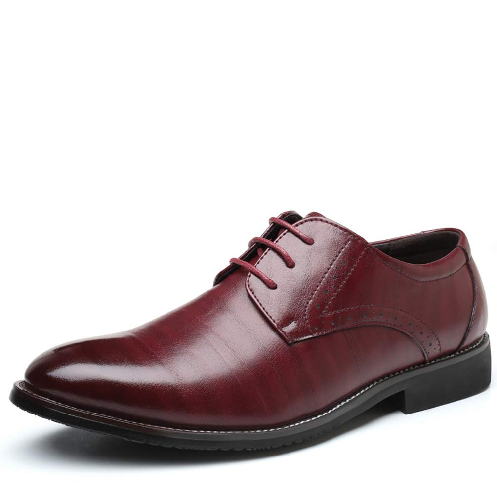Mens Formal Shoes Pointed Toe Lace Up Business Comfortable Dress Shoes
