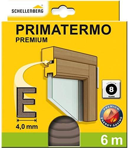 Schellenberg 66327 bruin afdichtingstape zelfklevend 9 x 4 mm rubberen afdichting Premium Evorm raamdeurafdichting totale lengte 6 m 2 rollen van elk 3 m 9x4mm x 6m