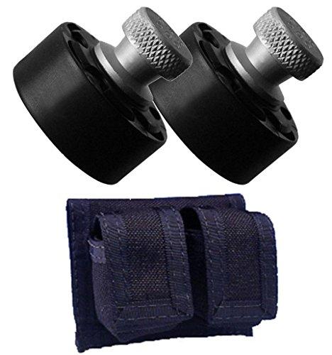 Bundle Includes 3 Items - 2 HKS 586-A Revolver Speedloader for S&W 586, 686, 581, 681/Ruger GP100 and HKS 100-B Cordura Double Speed loader Case (Black) ()