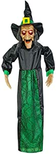 """Home Accents 48"""" Hanging Animated Halloween Grim Witch Party Prop Decoration LED Light Up Eyes"""
