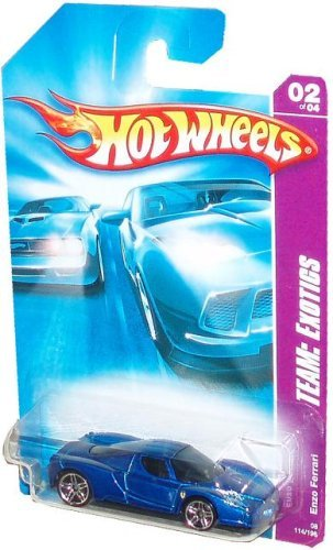 Hot Wheels 2006-114 Team Exotics Enzo Ferrari BLUE 1:64 Scale