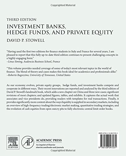 Investment banks hedge funds and private equity stowell pdf printer michel munz julius baer investment