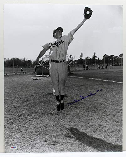 Brooklyn Dodgers Autographed Photo - DUKE SNIDER SIGNED AUTOGRAPHED 16X20 PHOTO BROOKLYN DODGERS PSA/DNA X52704
