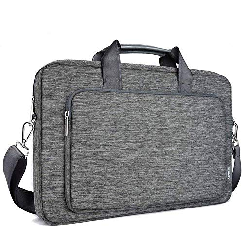 Laptop Gray Attache (WIWU Laptop Shoulder Bag, 17 Inch Laptop Case, Travel Briefcase with Organizer, Water-Repellent Messenger Shoulder Bags for Men Women Fit Up to 17.3 Inch Notebook(Gray) … (17.3 Inch, Gray))
