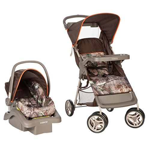 System Camo (Cosco Lift & Stroll Travel System - Car Seat and Stroller – Suitable for Children Between 4 and 22 Pounds, Realtree Camo)
