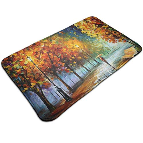 Mcdorty Non-Slip Door Mat Fall Landscape Design, Non Slip Absorbs Soft Rug Carpet for Indoor Outdoor Patio 31.5 X 19.5 -