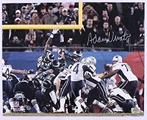 Adam Vinatieri New England Patriots Signed Autographed Snow Kick 16x20