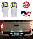 #10: LED Monster 4x 168 194 T10 5SMD LED Bulbs Car License Plate Lights Lamp White 12V (4)