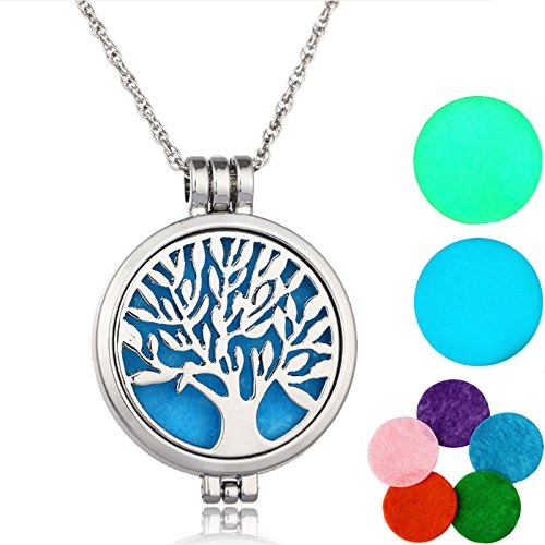 Essential Oils Diffuser Necklace Tree of life