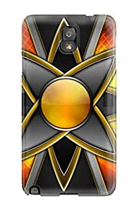 Fashion Case For Galaxy Note 3- Orange Star Defender YY-ONE