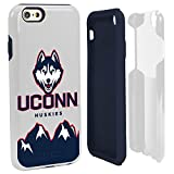NCAA Connecticut Huskies Hybrid IPhone 6 Case, White, One Size