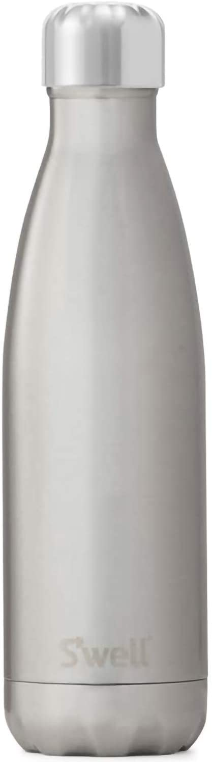 S'well Stainless Steel Water Bottle - 17 Fl Oz - Silver Lining - Triple-Layered Vacuum-Insulated Containers Keeps Drinks Cold for 41 Hours and Hot for 18 - with No Condensation - BPA Free Water Bottle