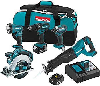 Makita XT505 18V LXT Lithium-Ion Cordless 5-Piece Combo Kit