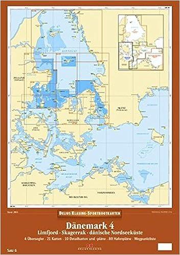 Dänemark Nordseeküste Karte.Delius Klasing Sportbootkarten Dänemark 4 Limfjord Skagerrak