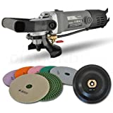 Hardin HWV5GRIN Variable Speed Polisher 5 Inch Concrete and Stone Wet Polishing Kit with Diamond Pads