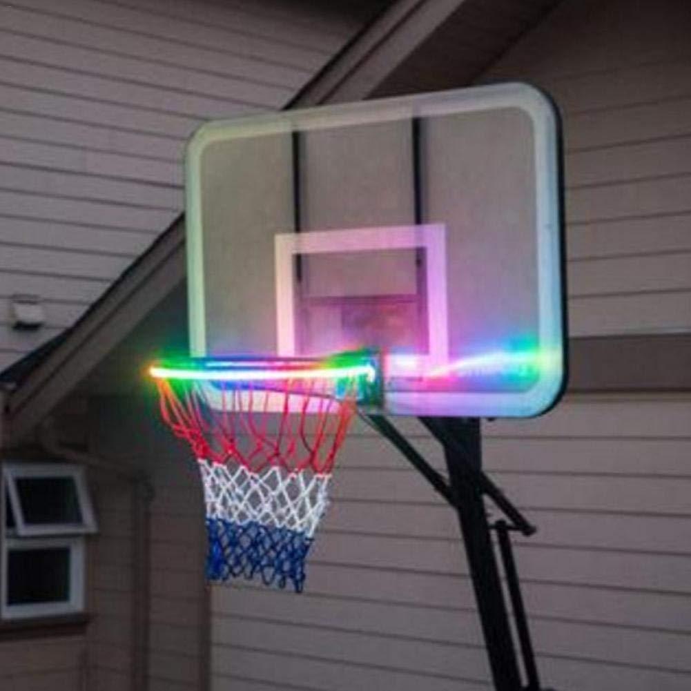 Light Up LED Rim Kit LED Solar Power Basketball Hoop Lights Waterproof LED Lights for Indoor//Outdoor Basketball Hoop Chen0-super Light Up Basketball Hoop