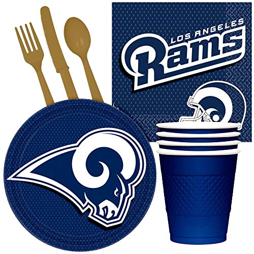 (BirthdayExpress NFL Party Supplies Los Angeles Rams Tailgate Party Pack for 32)