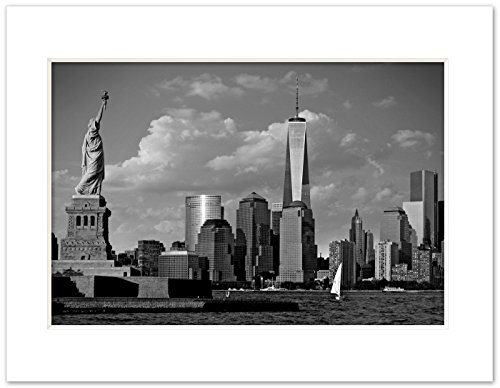 Igor Maloratsky Statue of Liberty Freedom Tower, New York 11 x 14 inchArt Giclee Photo Print Matted