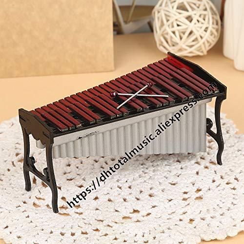 ZAMTAC Dh Miniature Marimba Model Mini Musical Instrument Dollhouse Accessories Ornaments Home Decoration - (Size: 12cm)