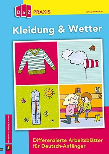 Kleidung Wetter Differenzierte Arbeitsblätter Für