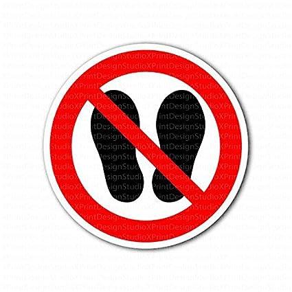 Danger Do Not Step Warning Sign Sticker