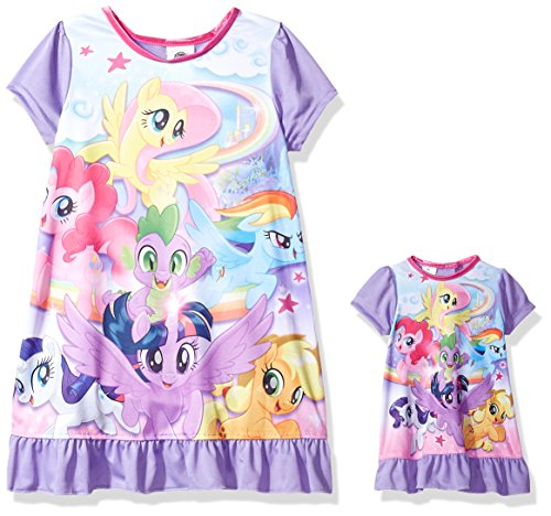 My Little Pony Little Girls' Magical Nightgown, Majestic Mauve, (My Little Pony For Girls)