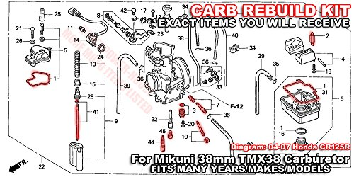 Carburetor Rebuild Kit with O-Ring Gasket 430 Main 55 Slow