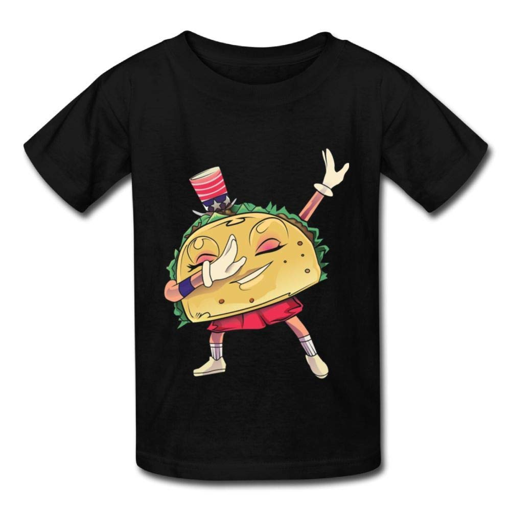 Short Sleeve Shirts Funny Taco Dabbing Baby Girls Toddlers