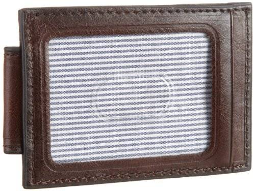 Levi's Men's Leather Money Clip & Card Case Wallet,Brown,One Size