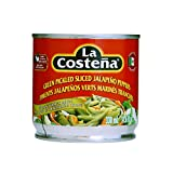 La Costena Green Pickled sliced Jalapeno Peppers 11.6 OZ (Pack of 12)