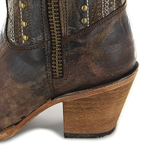 Fashion Crystal Boots Boots FB Brown Cowboy Women's C2925 fdq0w0x7