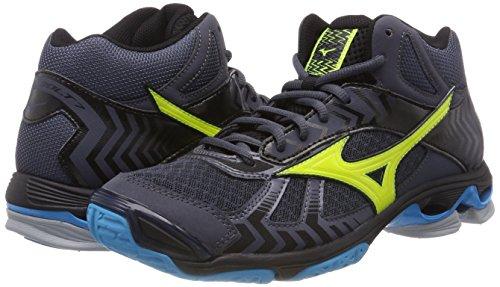Pour 47 Hawaiianocean Mid Volleyball 7 Hommes Mizuno ombreblue De Chaussures Bolt Wave Bleu Safetyyellow ZBqwEfxF