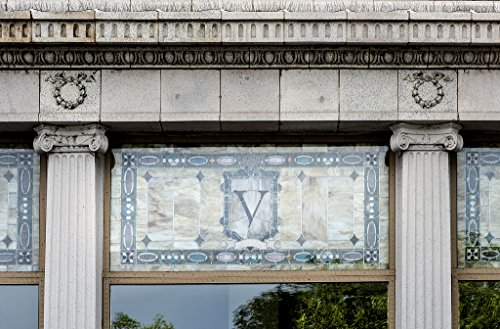 24 x 36 Giclee Print of V Stained-Glass Detail on The Front Facade of The Second Renaissance Revival-Style Vail Hotel in Pueblo Colorado r82 42148 by Highsmith, Carol M.