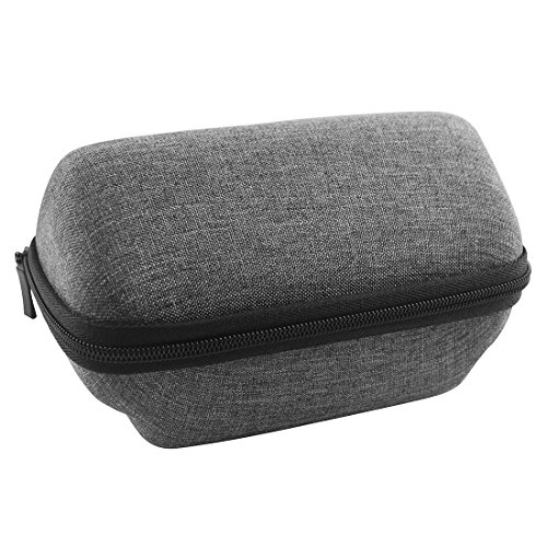 Geekria UltraShell Plus Hard Case for OontZ Angle 3 Bluetooth Speaker/Angle3 hard shell case, Protective Travel Bag with space for cable, SD cards and parts (Grey grain)
