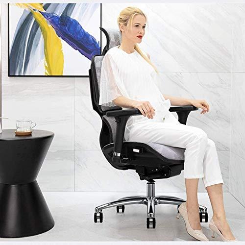 DBL Stolar ergonomisk stol, hem bekväm datorstol, kontorsstol, chef stol, spelstol ryggstöd, multifunktionell midjestöd skrivbordsstolar (storlek: Röd)